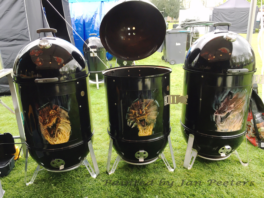 Weber BBQ airbrushed